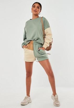 Missguided Co Ord Colourblock Jogger Shorts