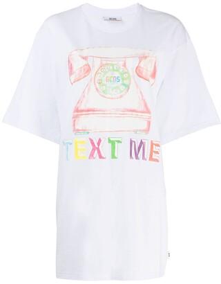 GCDS printed oversized T-shirt