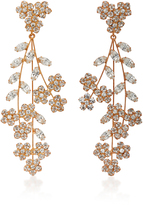 Jennifer Behr Rose Gold Swarovski Crystal Earrings