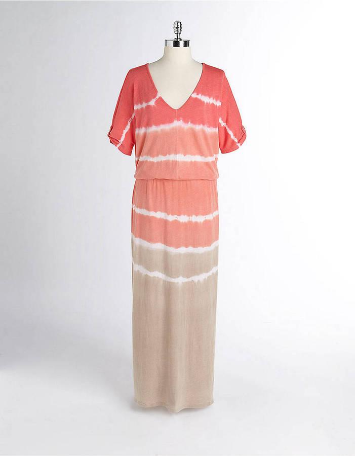 C&C California LAST STOP! V-Neck Tie-Dye Drop Waist Maxi Dress
