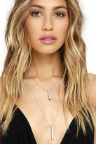 LuLu*s Chime In Silver Layered Necklace