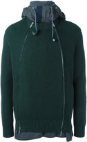 Sacai deconstructed hooded jacket - men - Cotton/Acrylic - 2