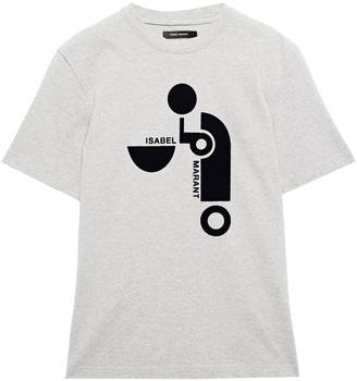 Isabel Marant Yardley Flocked Cotton-jersey T-shirt
