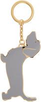 Thom Browne Grey Hector Keychain