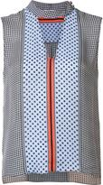 Derek Lam 10 Crosby multi-pattern sleeveless blouse - women - Silk - 0