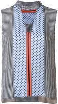 Derek Lam 10 Crosby multi-pattern sleeveless blouse - women - Silk - 6