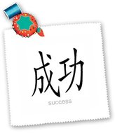 3dRose qs_2847_1 Chinese Symbol Success Quilt Square, 10 by 10-Inch