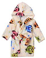 JELEUON Toddlers/kids/baby Soft Fleece Bath Robe Bathrobe Pajamas Sleepwear100cm