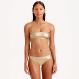 J.Crew Metallic gold bandeau bikini top