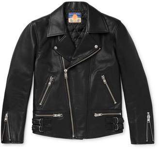 Blackmeans Slim-Fit Leather Biker Jacket