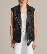 AllSaints Oversized Sleeveless Biker Jacket