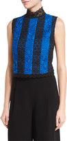 Diane von Furstenberg Bonita Colorblock Lace Sleeveless Top