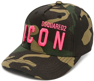 DSQUARED2 Embroidered Logo Camouflage Cap