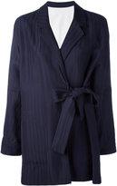 Acne Studios tied front coat - women - Viscose - 36