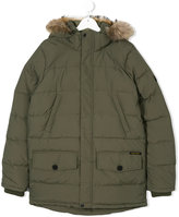 American Outfitters Kids teen faux-fur hooded parka