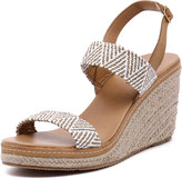Walnut Melbourne Cindy Strap Wedge Taupe/White