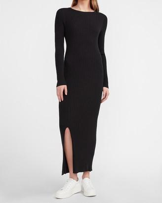 Express Ribbed Long Sleeve Maxi Sweater Dress