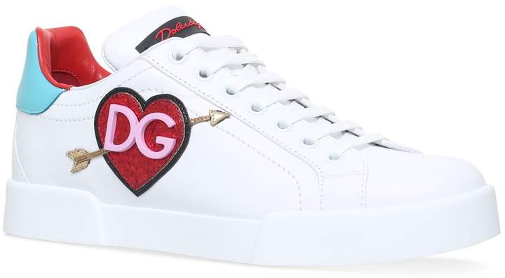 Dolce & Gabbana Leather Classic Heart Sneakers