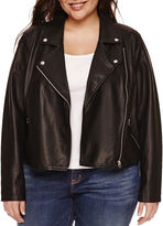 Boutique + + Motorcycle Jacket-Plus