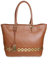 Badgley Mischka Carol Studded Leather Tote