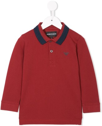 Emporio Armani Kids Contrasting Collar Polo Shirt