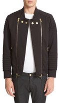 Pierre Balmain Men's Fleece Biker Jacket