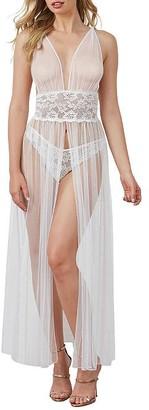 Dreamgirl Sheer Mesh Slit Gown