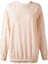 Stella McCartney floral lace sweatshirt