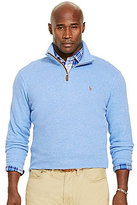 Polo Ralph Lauren Big & Tall Estate Rib Mockneck Quarter-Zip Pullover