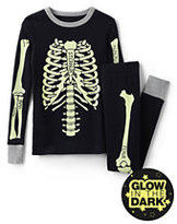 Classic Boys Skeleton Knit Snug Fit PJ Set-Black