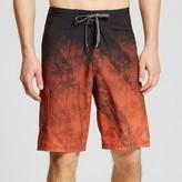 Ocean Current Men's Palm Tree Ombre Board Shorts Orange