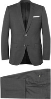 Hugo Boss - Grey Checked Super 120s Virgin Wool Suit