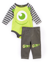 Children's Apparel Network Green Monsters Inc. Bodysuit & Pants - Infant