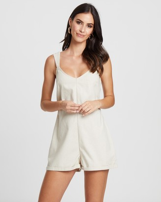 Atmos & Here Brit Linen Playsuit