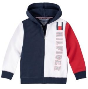 Tommy Hilfiger Boys Solid Full Zip Hoodie