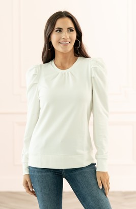Rachel Parcell Puff Sleeve Sweatshirt
