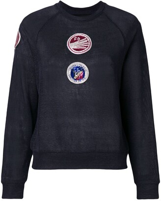 Mr & Mrs Italy Patch Embellished Sweatshirt