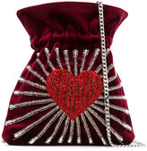 Les Petits Joueurs heart bucket bag - women - Cotton/PVC - One Size