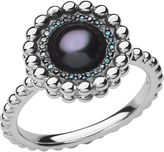 Links of London Effervescence blue diamond & pearl ring
