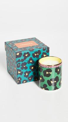 La DoubleJ Flower Leopard Candle