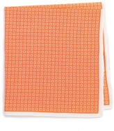 Men's Calibrate Geometric Cotton & Silk Pocket Square