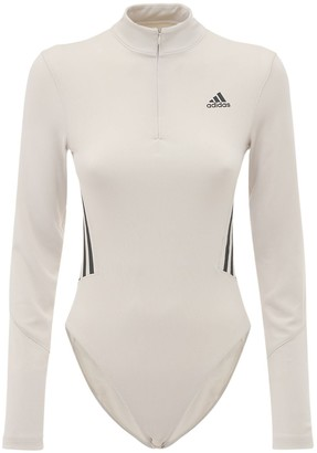 adidas Long Sleeve Leotard W/ Mesh Insert