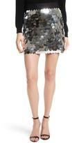 Milly Women's Paillette Sequin Miniskirt