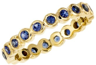 Temple St. Clair 18K Yellow Gold & Blue Sapphire Eternity Ring