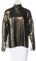 Tibi Sequined Long Sleeve Top w/ Tags