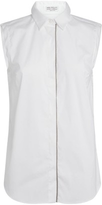 Brunello Cucinelli Embellished Sleeveless Shirt