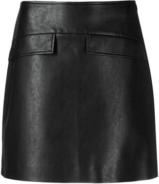 Ermanno Scervino Faux-Leather Mini Skirt