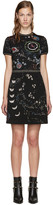 Valentino Black Jacquard Astro Dress