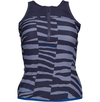 adidas x Stella McCartney Womens Training Miracle Sculpt Tank Top Night Steel/Chalk Solid Grey/Equipment Blue