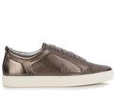 Lanvin Metallic low-top leather trainers
